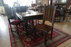 antique dining room set with 4 chairs in Ansbach, Germany