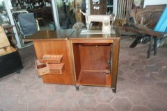 Singer sewing machine with cupboard 1950's in Spangdahlem, Germany