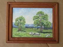 small old oil-painting in wooden frame in Baumholder, GE