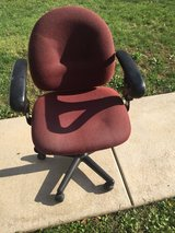 Rolling Office Chair (Burgundy) in St. Charles, Illinois