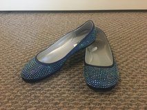 New!  Girl's Shoes - Sparkly Crystal-Covered Flats - Size 4 in Chicago, Illinois