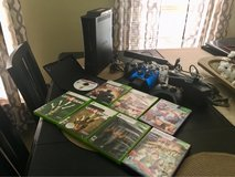 Xbox 360 bundle: 8 games, 4 remotes, double charger, Kinect + in Morris, Illinois