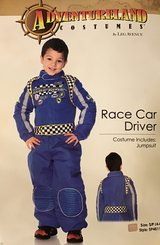 Race Car Driver Costume, Size S/P (4-6) in Oswego, Illinois