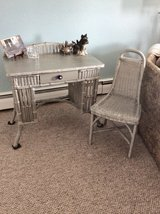 Antique Wicker Desk and Chair in Algonquin, Illinois