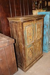Indian Hand Carved Solid Wood Cabinet Chest Storage in Davis-Monthan AFB, Arizona