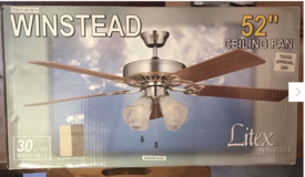WINSTEAD ceiling fan, still with original box in Stuttgart, GE