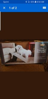 Pet Store Plastic Portable Pet Steps Recommended for Pets up to 75lbs in Naperville, Illinois