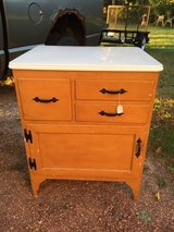 Cabinet/Coffee bar with enamelware top in Batavia, Illinois