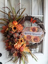 Fall wreath in Fort Polk, Louisiana