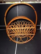Mid Century Rattan Magazine Rack in Warner Robins, Georgia