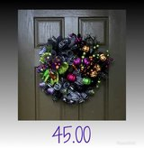 Halloween door wreaths in Kingwood, Texas