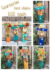 scarecrow yard stakes in Kingwood, Texas