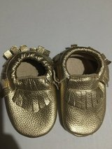 Toddler girl gold moccasins! in Aurora, Illinois