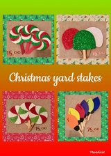 christmas yard stakes in Kingwood, Texas