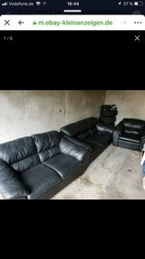 leather Couch in Baumholder, GE