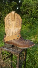 brown leather boot jewelry in Conroe, Texas