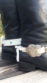 white leather boot jewelry in Conroe, Texas