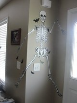 "PEEL & STICK HALLOWEEN MURALS ""SKELETON & BATS"" 5 FT 8 INCHES TALL in Camp Lejeune, North Carolina"
