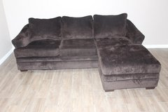 Very comfortable Sofa with chaise- Plush-Dark Brown in Spring, Texas