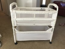 Arms Reach Baby Co Sleeper Bassinet Bed White Natural in Leesville, Louisiana