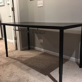 IKEA desk with cord organizer and adjustable legs in Westmont, Illinois