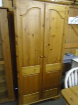Pine wardrobes, selection of 3 in Lakenheath, UK