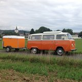 Volkswagon Camping Bus and Trailer in Spangdahlem, Germany