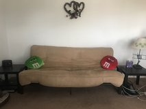 Futon (couch/ bed) with matching end tables in Fort Leonard Wood, Missouri