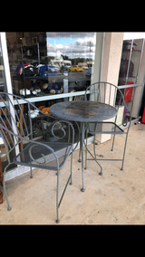 Metal Pub Table and Two Chairs in Fort Leonard Wood, Missouri