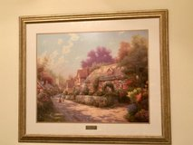 "Thomas Kinkade printed picture- ""COBBLESTONE VILLAGE"" in Kingwood, Texas"