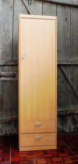 NIB Tall Walnut Cabinet Closet with Hanging cloths Option in Ramstein, Germany