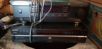 Sherwood receiver and sony 5 disk cd player in Fort Leonard Wood, Missouri
