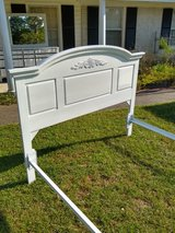 chalk painted Queen bed with rails in Cherry Point, North Carolina