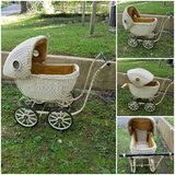 vintage wicker doll stroller pram need to sell asap to help friend in Fort Leonard Wood, Missouri
