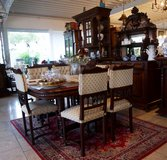gorgeous antique mahagony dining room set with 6 chairs in Stuttgart, GE