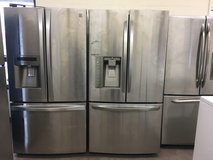 Stainless Steel French Door Refrigerator Units in Oceanside, California