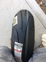 Dunlop Q3 rear tire in Yucca Valley, California