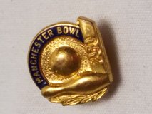 Manchester Bowl 250 Pin Lapel Tie Tack Bowling Ball Pins League UK England in Kingwood, Texas