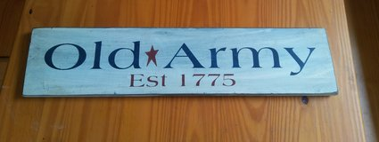 Old Army Sign in Fort Lewis, Washington