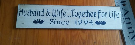 Husband Wife Sign 1994 in Fort Lewis, Washington