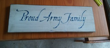 Proud Army Family Sign in Tacoma, Washington