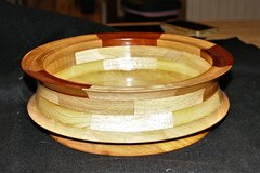 "Hand Turned Segmented 11"" Wooden Bowl in Camp Lejeune, North Carolina"