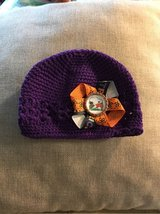 Baby crochet hat with Snoopy Halloween bow , NEW in St. Charles, Illinois
