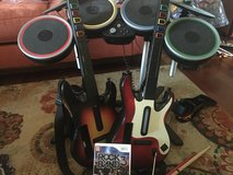 2 guitars, drums, and rock band game in Bolingbrook, Illinois
