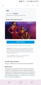 SWV tickets!!! in Perry, Georgia