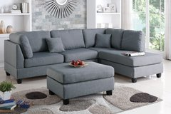 Grey Reversible Sectional With Ottoman $449 in Miramar, California