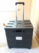 "Office Depot® Brand Mobile Folding Cart With Lid, 16""H x 18""W x 15""D, Black in Bolingbrook, Illinois"