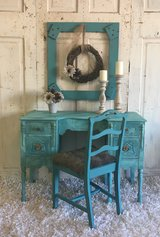 Antique Desk/Vanity and chair in Houston, Texas