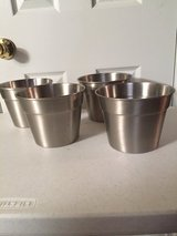"""6"""" Stainless Steel Planters (price each) in Eglin AFB, Florida"""