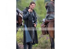 Chris Hemsworth Black Trench Coat The Huntsman 2016 in Bellaire, Texas